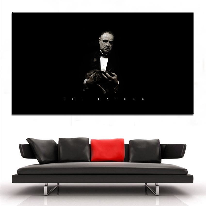 The Godfather Canvas Painting <font><b>Gangster</b></font> Wall Art <font><b>Poster</b></font> and Prints Wall Pictures for Home Living Room Modern Decoration image