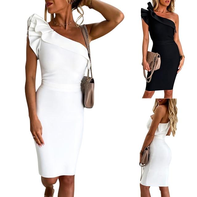 Drop Shoulder Party Dress 2
