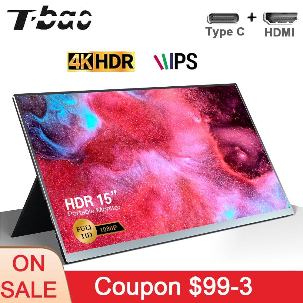 Т-Бао 15 ''для контроля уровня сахара в крови с HD 1080P IPS Панель Поддержка Экран расширения Портативный монитор для переключатель/PS3/PS4/ПК/ноутбу...