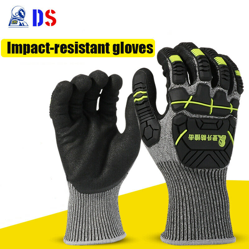 1 Pair Cut Resistant Gloves Anti Impact Vibration TPR Safety Anti Cut Work Gloves