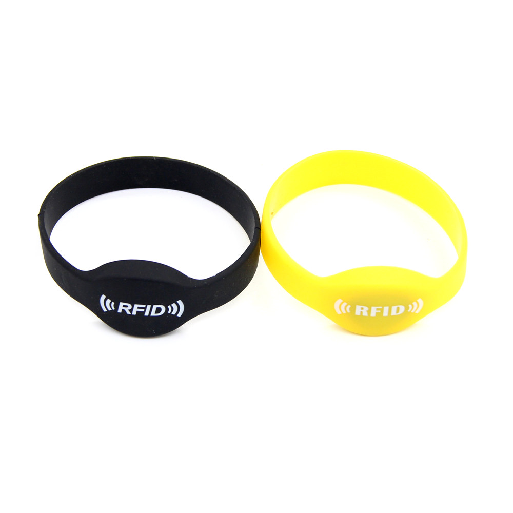 1pcs 125khz EM4305 EM4205 Intelligent Waterproof Silica Gel Wristband Replicable RFID Writable Proximity Keyfob Tags