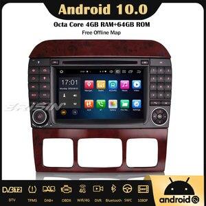 Erisin 8182 Android 10 Autoradio Car Stereo DVD USB 4G GPS DAB+CarPlay OBD2 8-Core for Mercedes Benz S/CL Class W220 W215 S500
