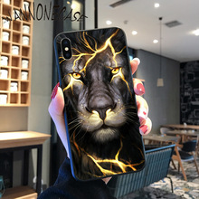 Starry animal lion wolf Pattern TPU Soft Phone Case For iPhone 8 7 6 6S Plus X XS MAX 5 5S SE XR 11 11pro promax Mobile Cases best friend couple pattern pattern tpu soft phone case for iphone 8 7 6 6s plus x xs max 5 5s se xr 11 11pro promax mobile cases