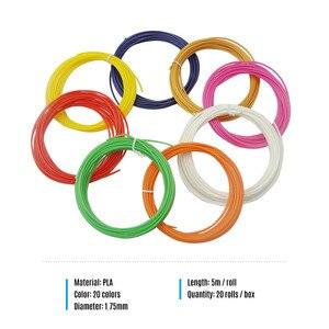 Image 5 - 20 Refills 100 meter 3D pen PLA filament Refills High Precision 1.75mm PLA Filament Eco friendly Material 20 Colors