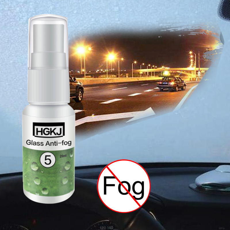 20ml HGKJ-5 Glass Anti-fog Agent Waterproof Rainproof Anti-fog Spray Window Glass Bathroom Cleaner Car Cleaning Car Accessories