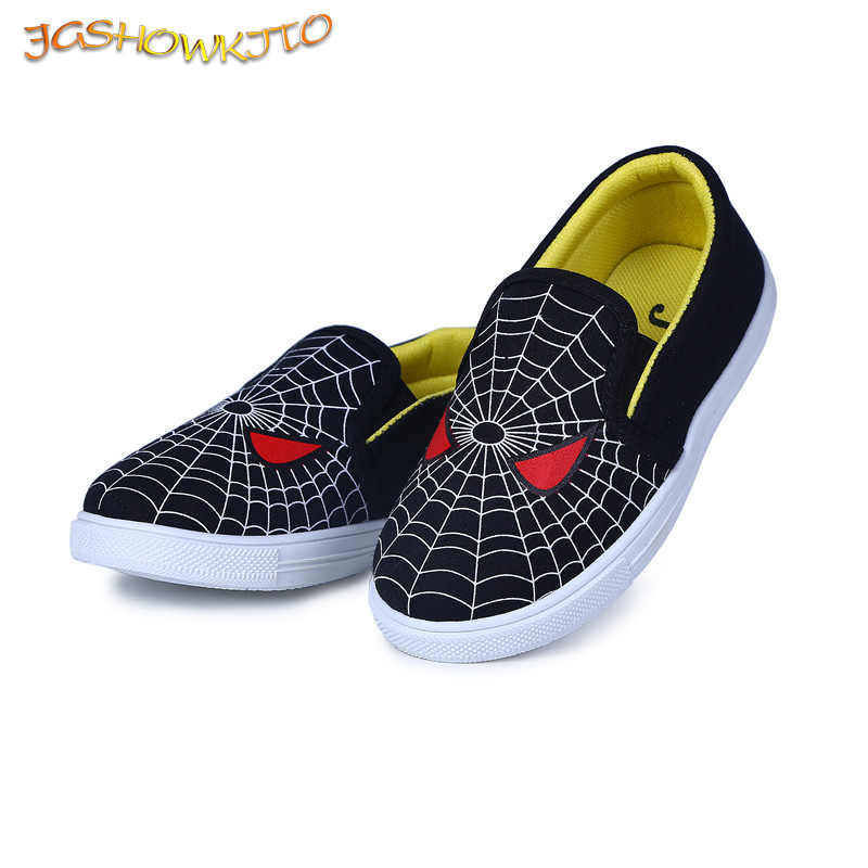 JGSHOWKITO Christmas/Halloween Boys Shoes Kids Canvas Sneakers Fashion Spiderman Children Casual Shoes Hot Sale Soft Comfortable