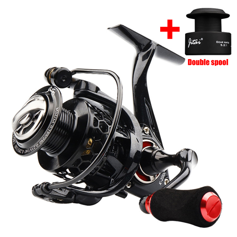 NEW Fishing Reel High Quality Double Spool 10+1BB Spinning Reel Carp Fishing Full Metal Body Casting Reel Lightweight Carp Reel