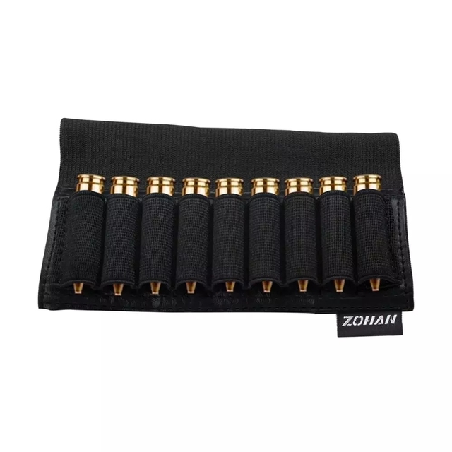 ZOHAN 9 Rounds Tactical Rifle Buttstock Shell Holder Stock Cartridge Holder Ammo Carrier Bullet Pouch Hunting Accessory 2