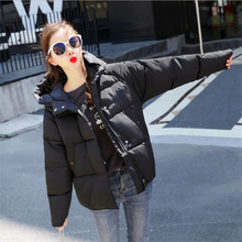 2019 New Parkas Female Women Winter Coat Thick Down Cotton Jacket Womens Parkas Black Outwear Plus Size Abrigos Mujer Invierno стоимость