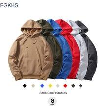 FGKKS – Sweatshirt chaud à capuche pour homme, polaire, veste, nouveau, mode, automne, taille européenne, de marque
