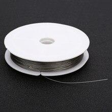 Nowy drut ze stali nierdzewnej 0.3 ~ 0.8mm frezowanie lina żyłka wędkarska ciąg na naszyjnik DIY bransoletki komponenty do wyrobu biżuterii