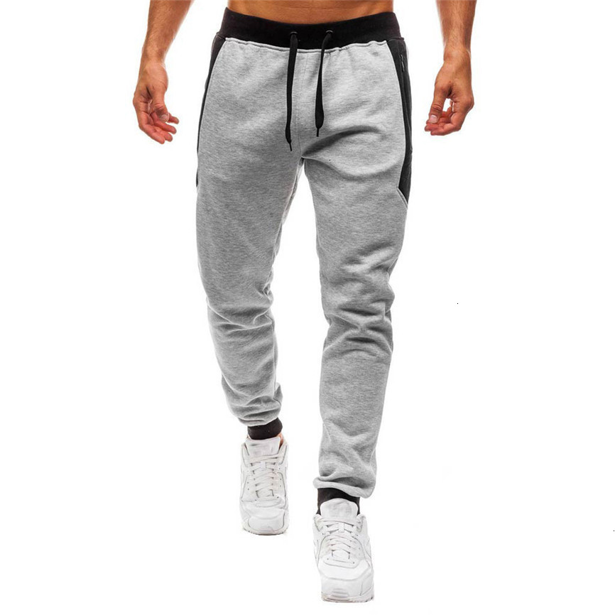 Hot Sales Fashion Men Splicing Printed Overalls Casual Pocket Sport Work Casual Trouser Pants High Quality And Comfortable