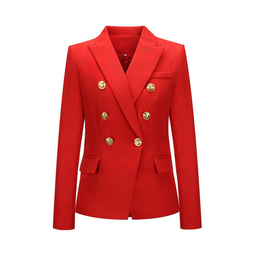 Fashion Spring Autumn Women Plaid Blazers And Jackets Work Office Lady Suit Slim Double Breasted Business Female Blazer Coat