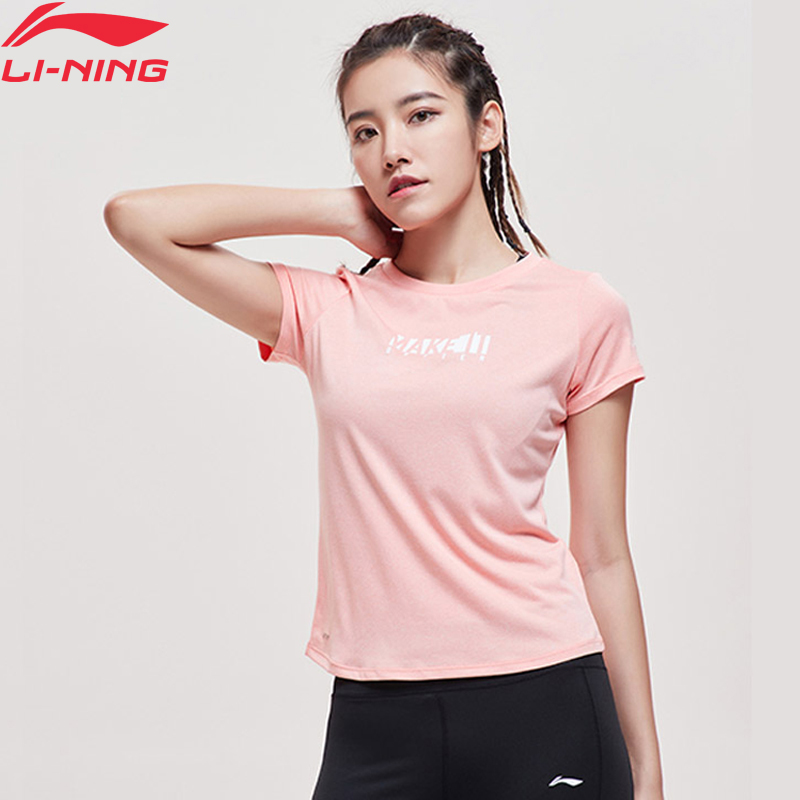 Li-Ning Women Training Short Sleeve Top AT DRY Polyester Regular Fit LiNing Li Ning Breathable Sports T-shirts ATSP088 WTS1499