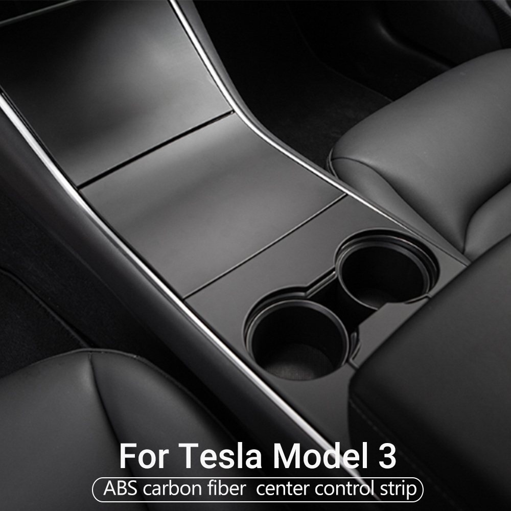 4X For Tesla Model 3 17-19 Car Central Control Panel Protective Patch White