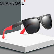 SHARK SAIL Man Polarized Light Sunglasses Women Square Sun Glasses Drive Mirror Ray  Anti-Reflective Lentes De Sol Mujer
