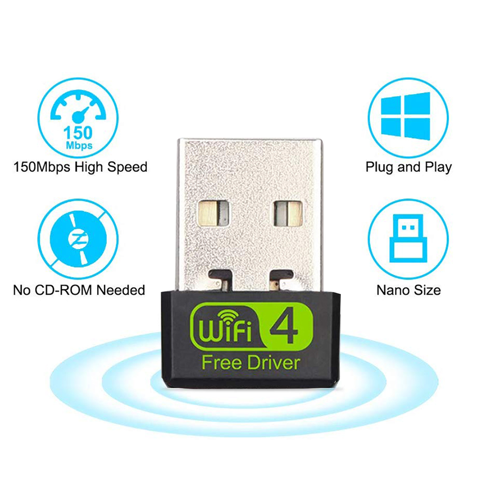 USB WiFi Adapter 150Mbps Mini USB Wireless Network Adapters Free CD Driver Wi-Fi Dongle For Win/Vista/Linux Desktop/Laptop