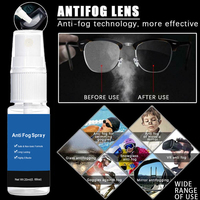 Car Window Helmet Lens Glasses Glass Long Lasting Defogger Curing Agent Cleaning Agent Car Wash 20ml Anti-Fog Spray 2