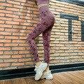 Камуфляжные штаны с высокой талией для йоги, спортивные камуфляжные бесшовные леггинсы, эластичные колготки для упражнений, женские штаны ...