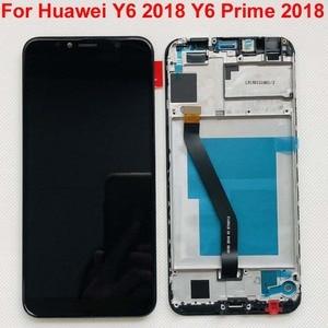 Image 4 - מקורי 5.7 עבור Huawei Y6 2018 Y6 ראש 2018 ATU LX1 / ATU L21 ATU L31 LCD תצוגה + מסך מגע Digitizer עצרת + מסגרת