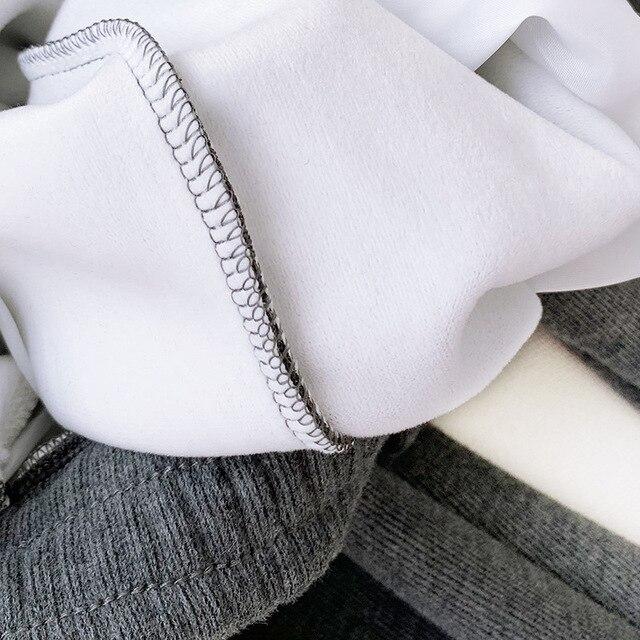 Thick Fleece Elastic Waist Women Harem Pants Drawstring Winter Warm Carrot Pants Letter Printed Streetwear Joggers Trousers 6