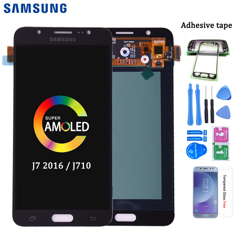 Original Amoled Lcd For Samsung Galaxy J7 2016 J710 LCD Display And Touch Screen Digitizer Assembly SM-J710F J710M J710H J710FN