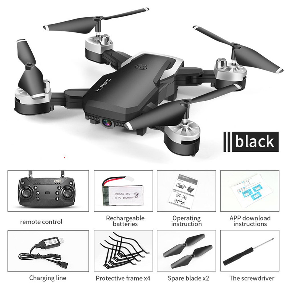 HJ28 Foldable RC Drone 4 Channels Wifi 2MP 5MP FPV Camera Drone Altitude Hold Gesture Photo Video RC Quadcopter