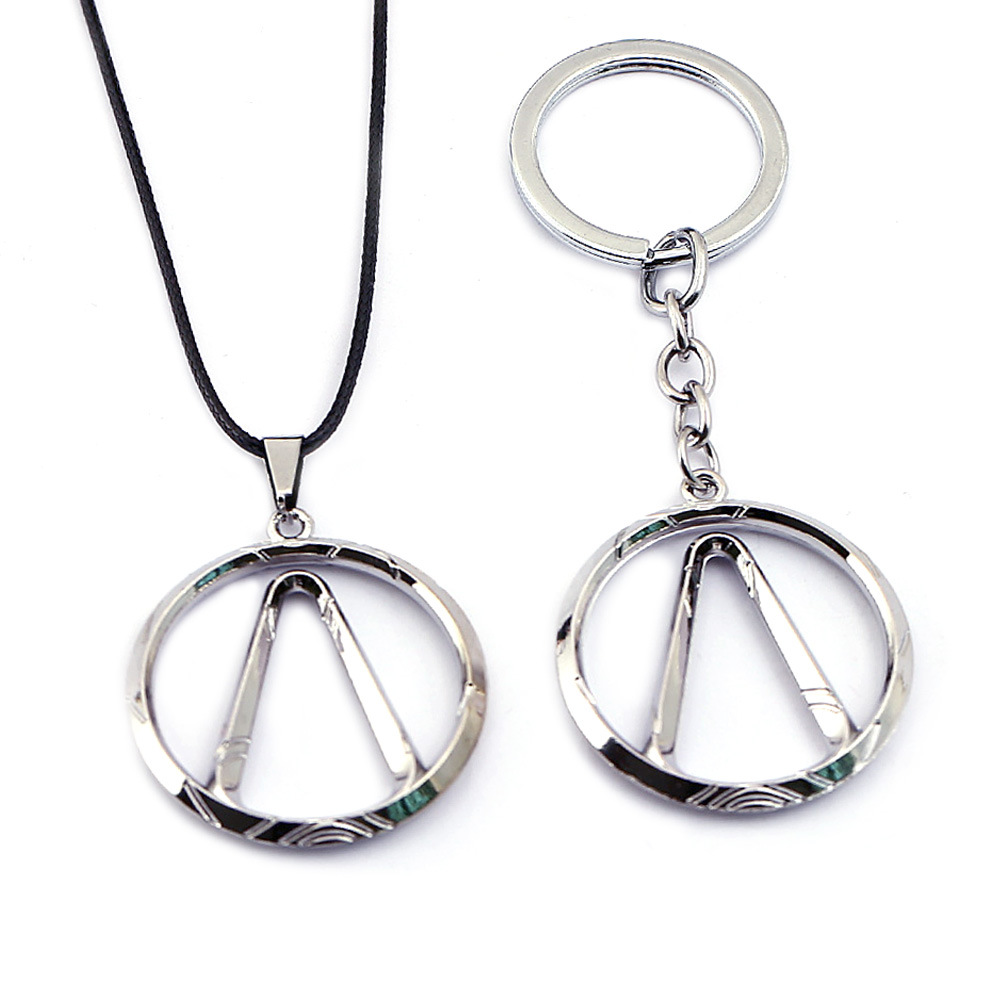 Game Borderlands Keychain Necklace Pendant Metal Choker Rope Chain Key Chain Kids Gift Jewelry Figure Cosplay Toys