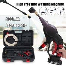 20V 320PSI Auto Wasmachine Draagbare Draadloze Multifunctionele Draadloze Hogedrukreiniger Wasmachine Water Hose Nozzle Pomp Met Batterij