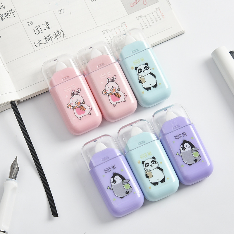 Kawaii Cute Animal Panda Rabbit White Out Corrector Practical Correction Tape Diary Stationery School Supply