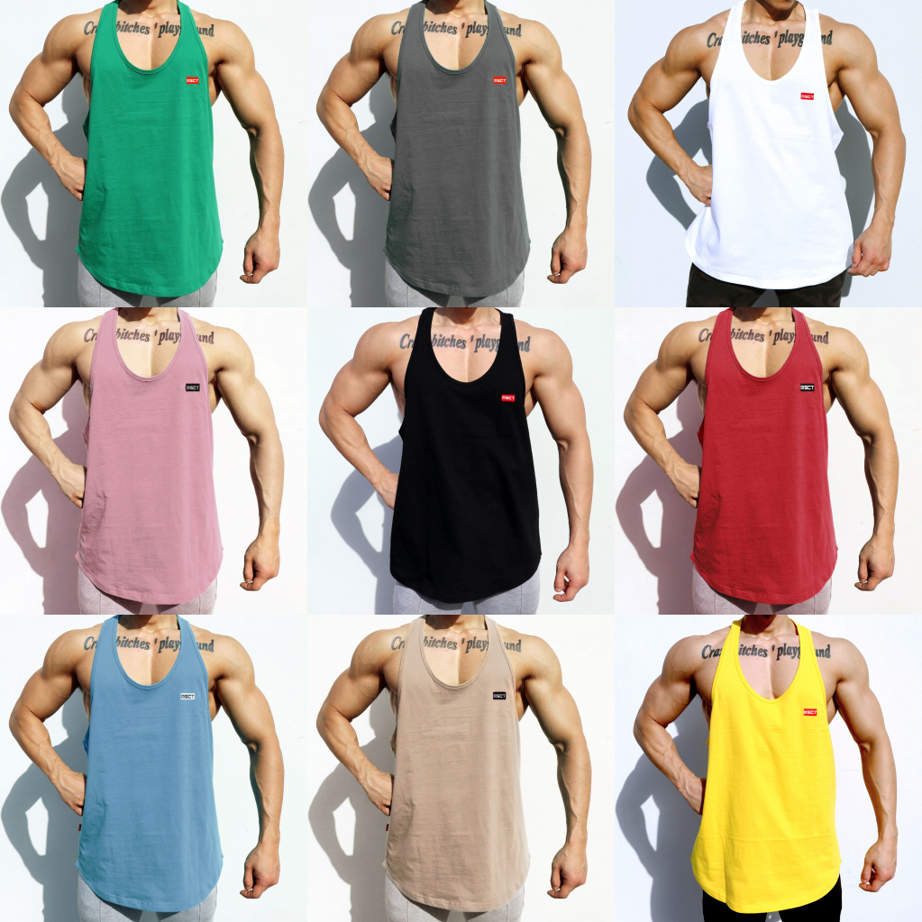 New Casual Cotton Gym Men Muscle Sleeveless   Tank     Top   Tee Shirt Bodybuilding Stringer Fitness   Tank     Top   Workout Sport Fitness Vest