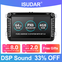 Isudar PX6 2 Din Android 10 Car Radio For Skoda/Seat/Volkswagen/VW/Passat b7/POLO/GOLF 5 6  Auto Multimedia Player DVD GPS DVR