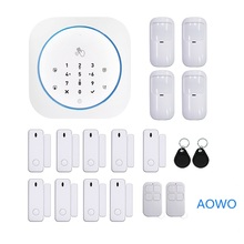Wireless Touch GSM Home Security Alarm With APP RFID SMS Voice Auto Dial Motion Detect Burglar Intruder Fire Smoke Alarm Panel