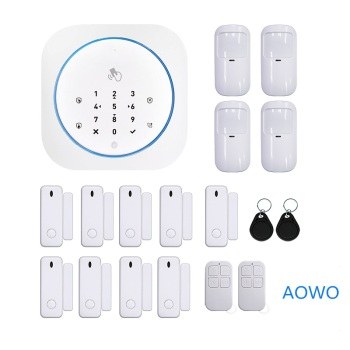 цена на Wireless Touch GSM Home Security Alarm With APP RFID SMS Voice Auto Dial Motion Detect Burglar Intruder Fire Smoke Alarm Panel