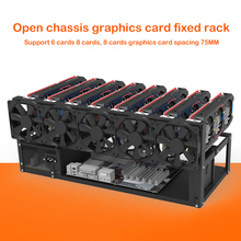 GPU Mining Rig Steel Opening Air Frame Mining,Mining Frame Rig Case Up to 12 GPU For Crypto Coin Currency Mining New