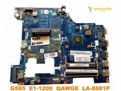 Original for Lenovo G585 laptop  motherboard G585  E1-1200  QAWGE  LA-8681P tested good free shipping