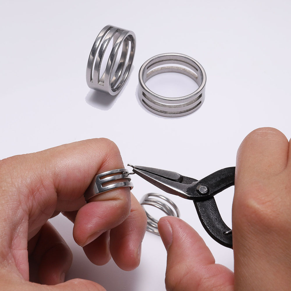 1pc Stainless Steel Jump Ring Opening Closing Finger Jewelry Making Tools Round Circle Bead Plier For DIY Craft Jewelry Making