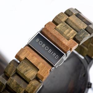 Image 4 - BOBO BIRD Men Wood Quartz Wristwatch Retro Green Sandalwood Timepiece Multifunctional Chronograph Accept Customized reloj hombre