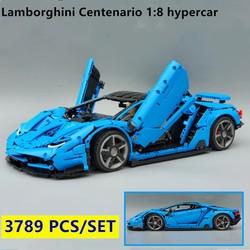 Новый Lamborghini 100 лет Centenario 1:8 Супер гоночный автомобиль подходит для Lepinings Technic moc-39933 модель здания подарочные игрушечные блоки