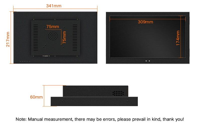 19 21.5 Polegada Não Touch Screen Monitor
