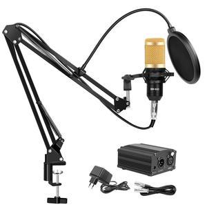 Image 3 - 48V 팬텀 전원 BM 800 콘덴서 마이크 스튜디오 녹음 가라오케 공급 장비 EU 플러그 오디오 어댑터 DC 전원