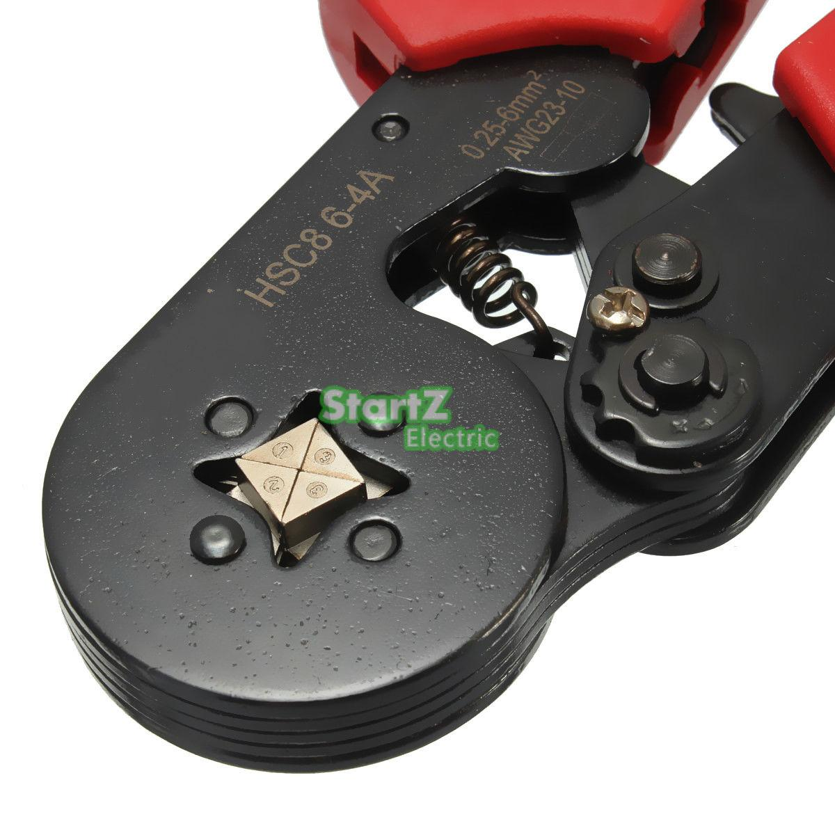 AWG23-10 Self Adjusting Ratcheting Ferrule Crimper HSC8 6-4A 0.25-6mm²