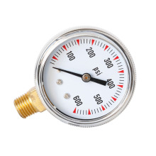 1/4NPT 0-600psi Pressure Measuring Tool High Accuracy Pointer Gauge for Domestic Heating