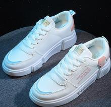 2019 nowa wiosna marka projektant białe buty klinowe damskie platformy kobiet Tenis klinowe Feminino przypadkowa kobieta tanie tanio TSDFC Wiosna jesień Mieszkanie (≤1cm) Pasuje prawda na wymiar weź swój normalny rozmiar Lace-up Stałe Rzym Tkanina bawełniana