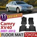 Custom Leder Auto Boden Matten für Toyota Camry XV 40 XV40 2007 ~ 2012 5 Sitze Waterprool Fuß Pad Teppich zubehör 2008 2009 2010-in Autoaufkleber aus Kraftfahrzeuge und Motorräder bei
