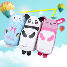 Cute Cartoon Pencil Case Students Lovely Animal Storage Makeup Pen Bag Stationery OUJ99