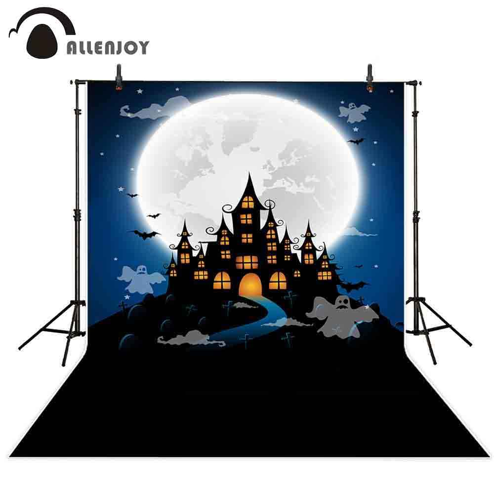 Allenjoy Halloween Horror Night Photography Backdrop Scary Graveyard Tombstone Background for Children Kids Sorcerer Ghost Themed Party Decor Banner 7x5ft Portrait Photoshoot Booth Props