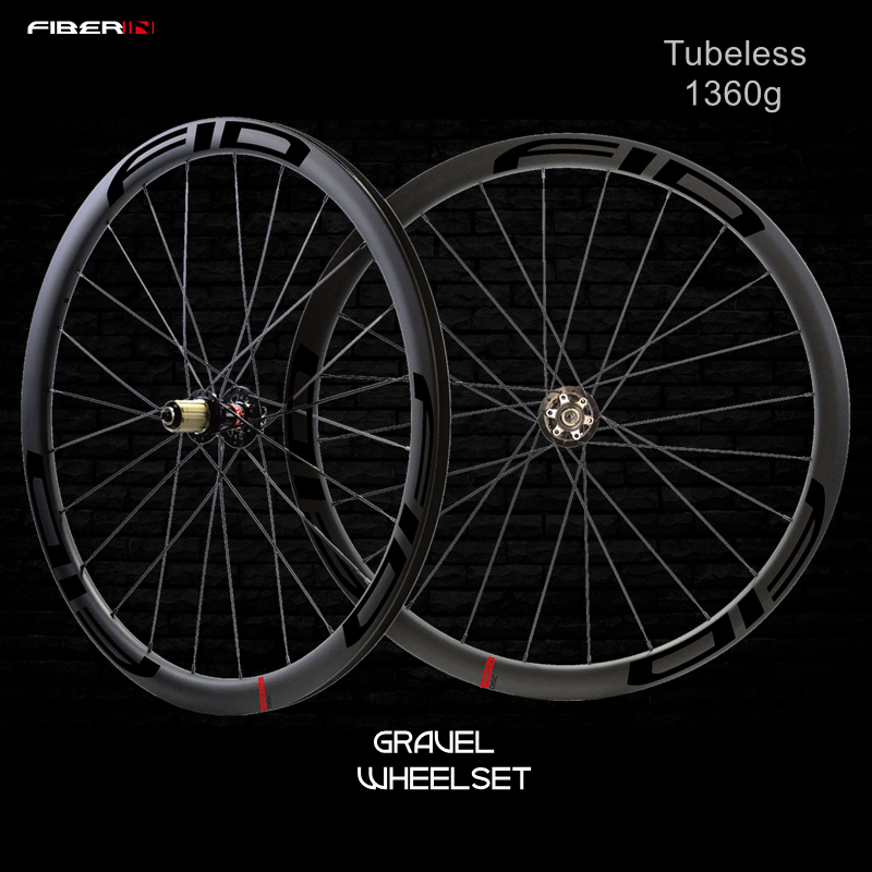 1360g carbon wheel 29mm wide Rim 45mm 35mm Road clincher wheel 700c Cyclocross flyweight tubeless Gravel Bike disc Wheels