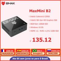 BMAX B2 Mini PC Intel Celeron E3950 dual Core 8GB RAM 128GB 256GB SSD Windows 10 computadora HDMI USB-C Mini Pc Comperter