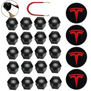 For Tesla Wheel Cover Trim Wheel Hub Cap Kit For Tesla Model 3 S X Wheel Car Accessories Hub Cover Emblem Badge + Lug Nut Covers(China)